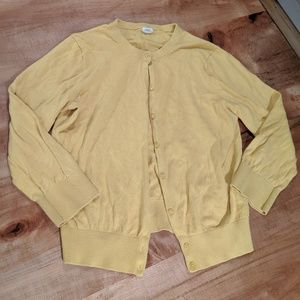 J Crew cardigan yellow button down size small